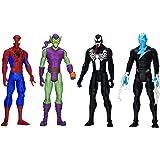 Hasbro A9362 - Coffret 4 figurines 30 cm Spider-Man - Green Goblin - Venom - Marvel's Electro