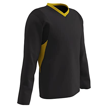 e2c2c9f77 Champro Youth Long Sleeve Basketball Shooting Shirt - Black Gold - Small