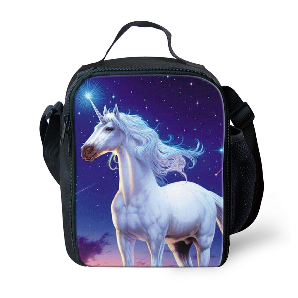 Amzbeauty Unicorn Lunch Bag for Kids Insulated Personalized Lunch Box Organizer AMZ-FUD-G-HBC18023G