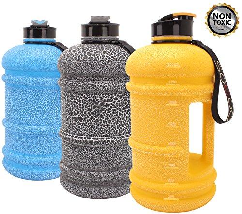 Water Jug 2.2L Large Water Bottle Lightweight Leak Proof Giant Big Water Bottle For Women Men Gym Fitness Athletic Outdoor Camping Hiking BPA Free Plastic Sports Water Jug
