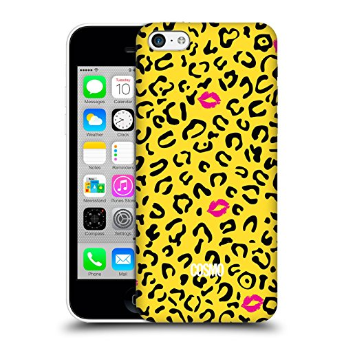 Official Cosmopolitan Black And Yellow Sassy Leopard Hard Back Case for Apple iPhone 5c