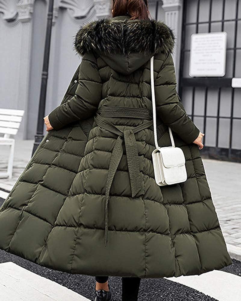 Femme Doudoune Manteau Longue Hiver Chaud Blouson À Capuche Épaissir Veste  Matelassée Parka Slim Fit 28dd4980a8b