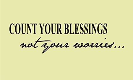 Count your blessings not your worries 25x7 Vinyl wall art ...