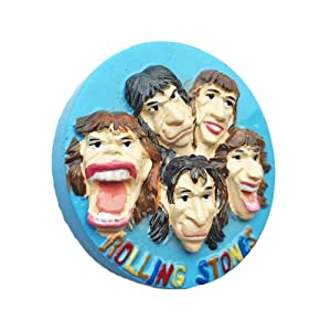 3D Rolling Stones England UK Refrigerator Fridge Magnet Tourist Souvenirs Handmade Resin Craft Magnetic Stickers Home Kitchen Decoration Travel Gift
