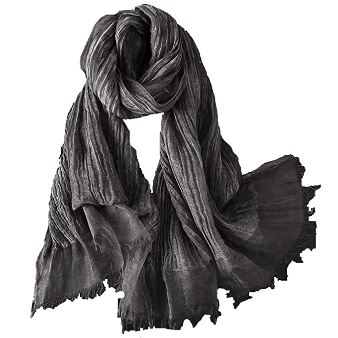 Amazon.com: Bufanda de lino y seda para mujer, estilo ...