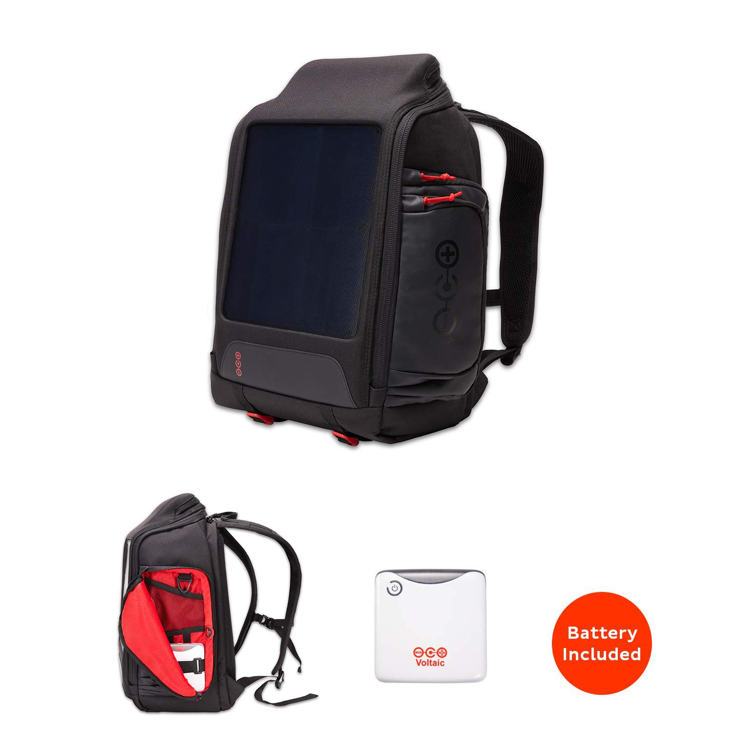 Voltaic Systems OffGrid 10 Watt Rapid Solar Backpack Charger | Includes a Battery Pack (Power Bank) and 2 Year Warranty | Powers Phones Including iPhone, Tablets, USB Devices, More