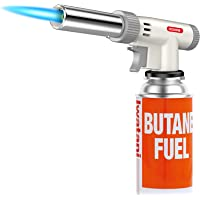 Butane Torch, Kollea Blow Torch Creme Brulee Torch Kitchen Torch Butane Torch Lighter Cooking Torch with Adjustable…