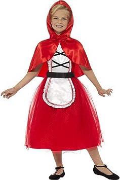 Disfraz de Caperucita Roja para niña de Halloweenia, con vestido y ...