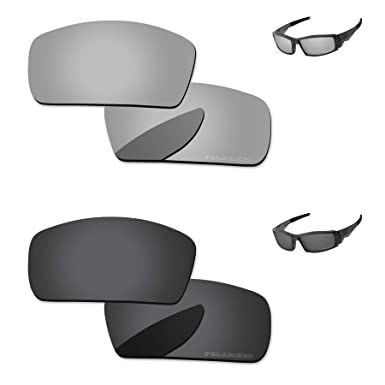 b329c2a0b8 PapaViva Lenses Replacement for Oakley Canteen 2006 Black Grey   Chrome  Silver
