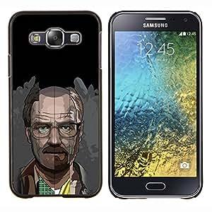 Qstar Arte & diseño plástico duro Fundas Cover Cubre Hard Case Cover para Samsung Galaxy E5 E500 (Meth Cocine)