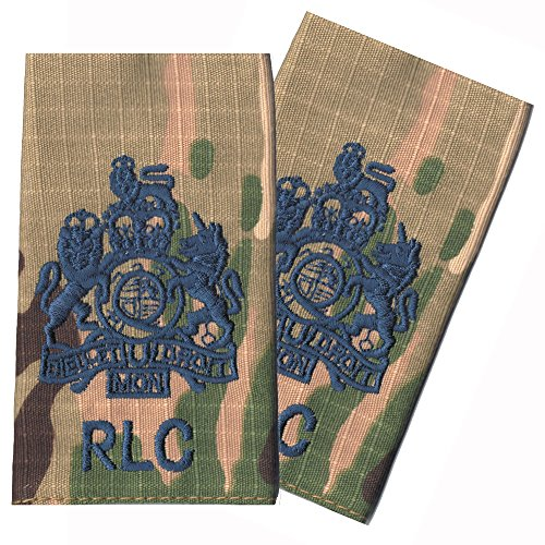 Paire RLC Bleu sur MultiCam/MTP Match WO1RSM Rank Lames/épaulettes