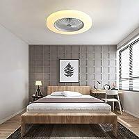 Ventilador de techo LED con iluminación, luz blanca fría, lámpara de ventilador de 36W…