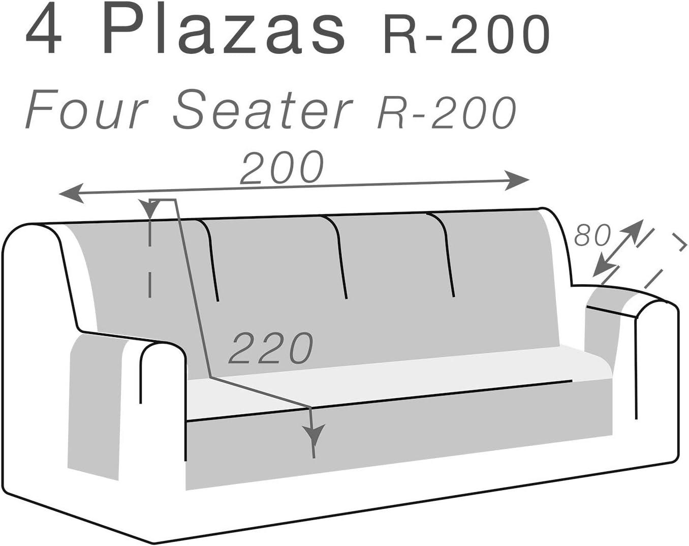 4 Platten 4//P Hellgrau gepolstert Belmarti Sofa/überwurf