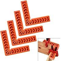 AFASOES 4 stuks positioneringshoek 15 x 15 cm hoekspanhoek 90 graden hoekklem hoekklem hout kunststof rechthoekige…