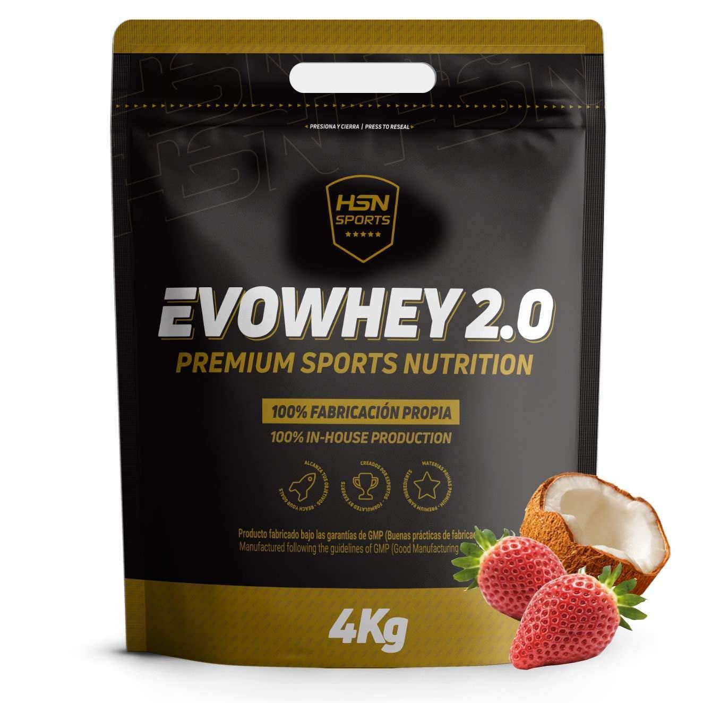 Whey Protein Concentrate de HSN   Concentrado de Proteína de Suero Evowhey Protein 2.0   Batido de Proteínas en Polvo, Vegetariano, Sin Gluten, Sin ...