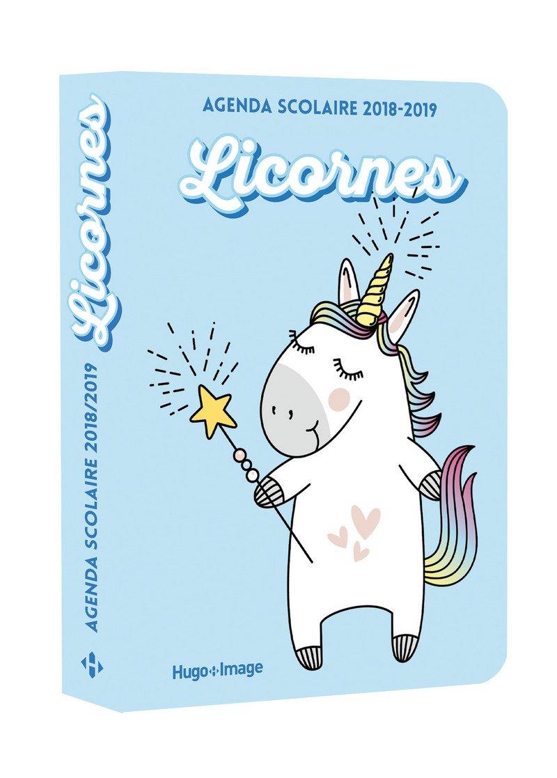 Agenda scolaire 2018-2019 Licornes: 9782755637274: Amazon ...