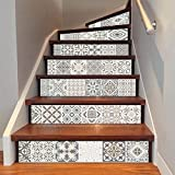 AddLife 6Pcs Arabian Style Tile Staircase Stickers Removable Decals Home Stairs Creative Decoration