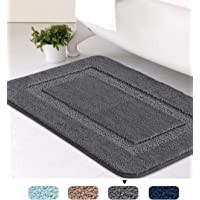 "H.Versailtex Tufted Slip-Resistant Washable Bath Mat Extra Soft and Absorbent for Bathrooms TPR Rubber Backing 1 Pack, 20"" x 32""- Navy"