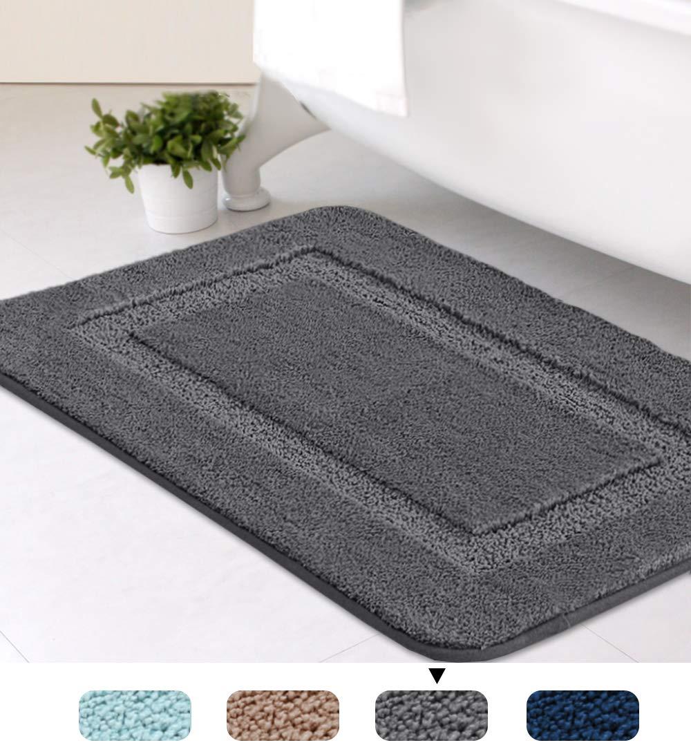 H.VERSAILTEX Non-Slip Push Microfiber Bath Rugs Floor Mat Ultra Soft Washable Bathroom
