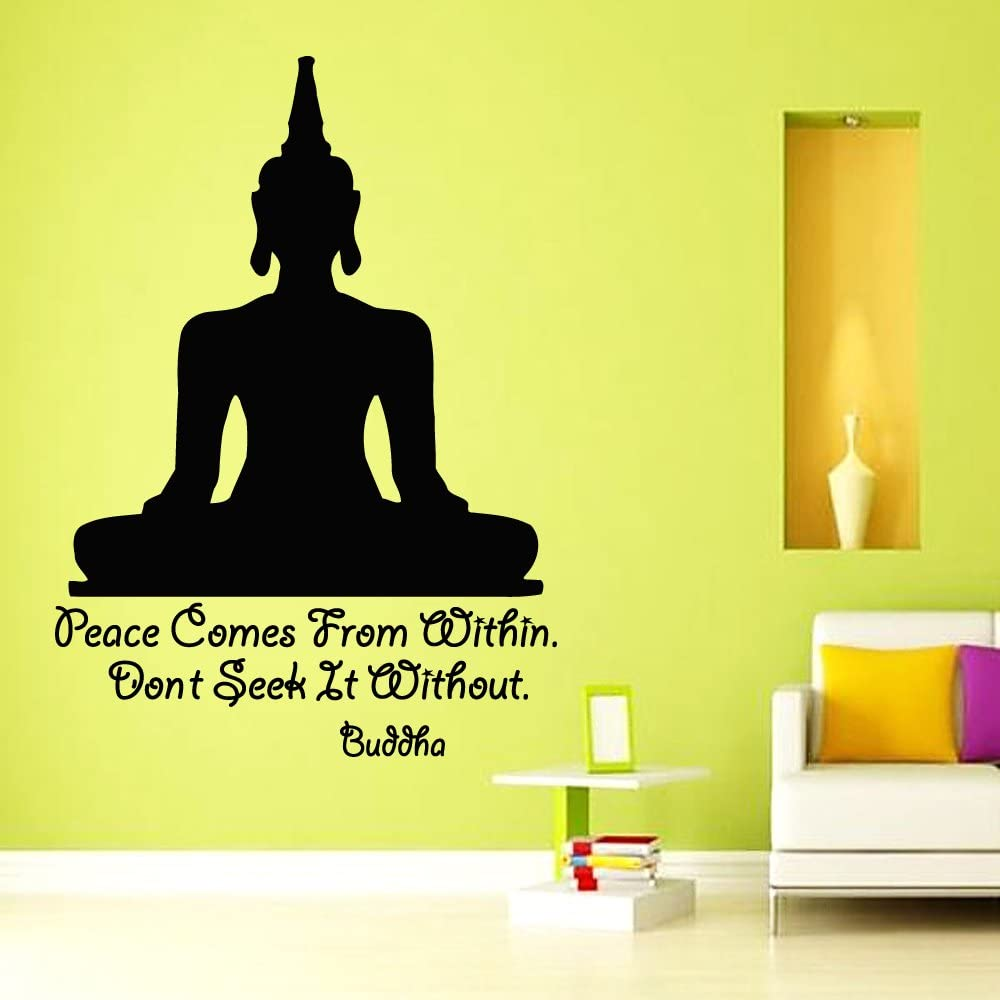 Do Not Seek It Without Quote by Buddha Inspirational Art Print. Peace Comes From Within You