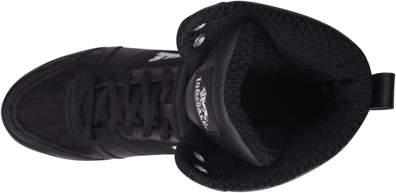 Lonsdale Anwärter-hohe Boxen-Stiefel - Schwarz-weiß Schwarz Weiß