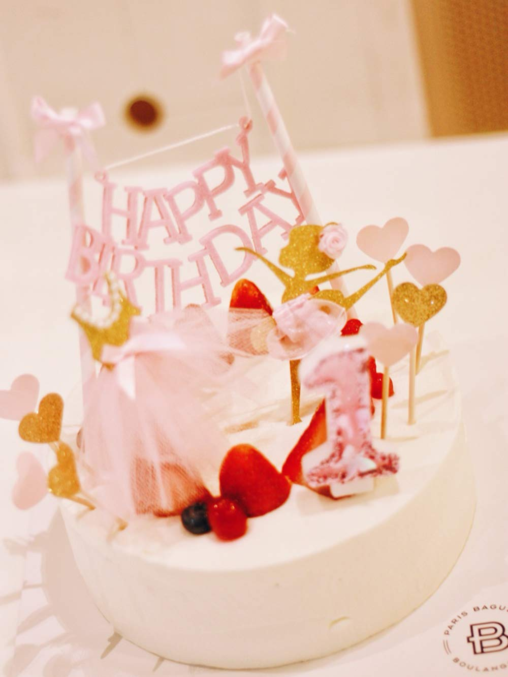Amazon Soccerene Happy Birthday Cake Bunting Topper With Pink