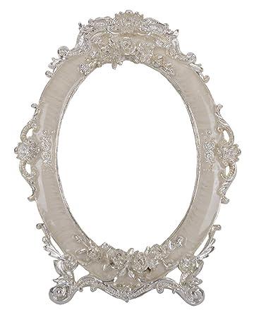Amazoncom Nerien Decorative Vintage Retro Metal Tabletop Mirror