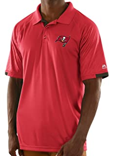266646837 Majestic Tampa Bay Buccaneers NFL Club Level Men s Short Sleeve Polo Shirt