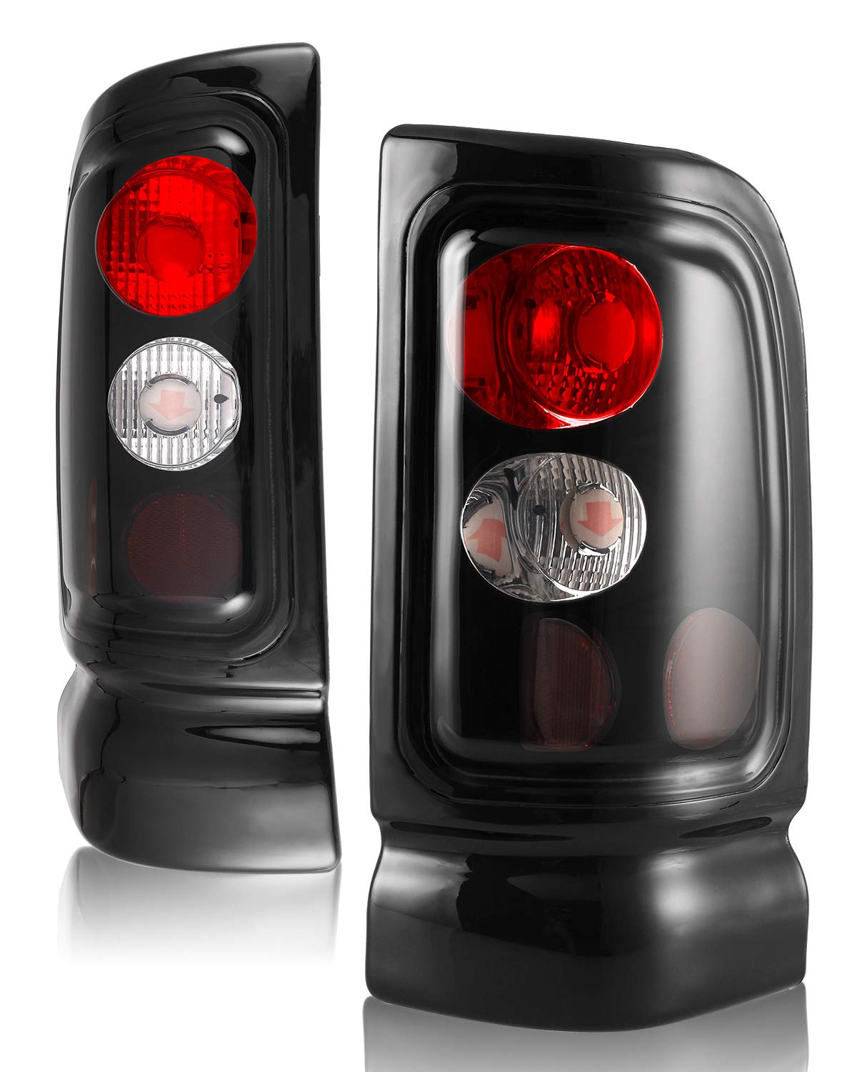 AUTOFREE Tail Lights for 94-01 DODGE Ram Black//Smoke LED Tail Lamp Replacement Assembly 1Pair,