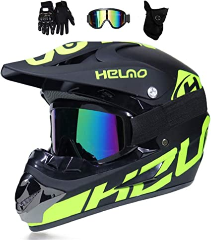 Amazon.es: TKJMCasco de Motocross,Casco Descenso Hombre,Verde ...