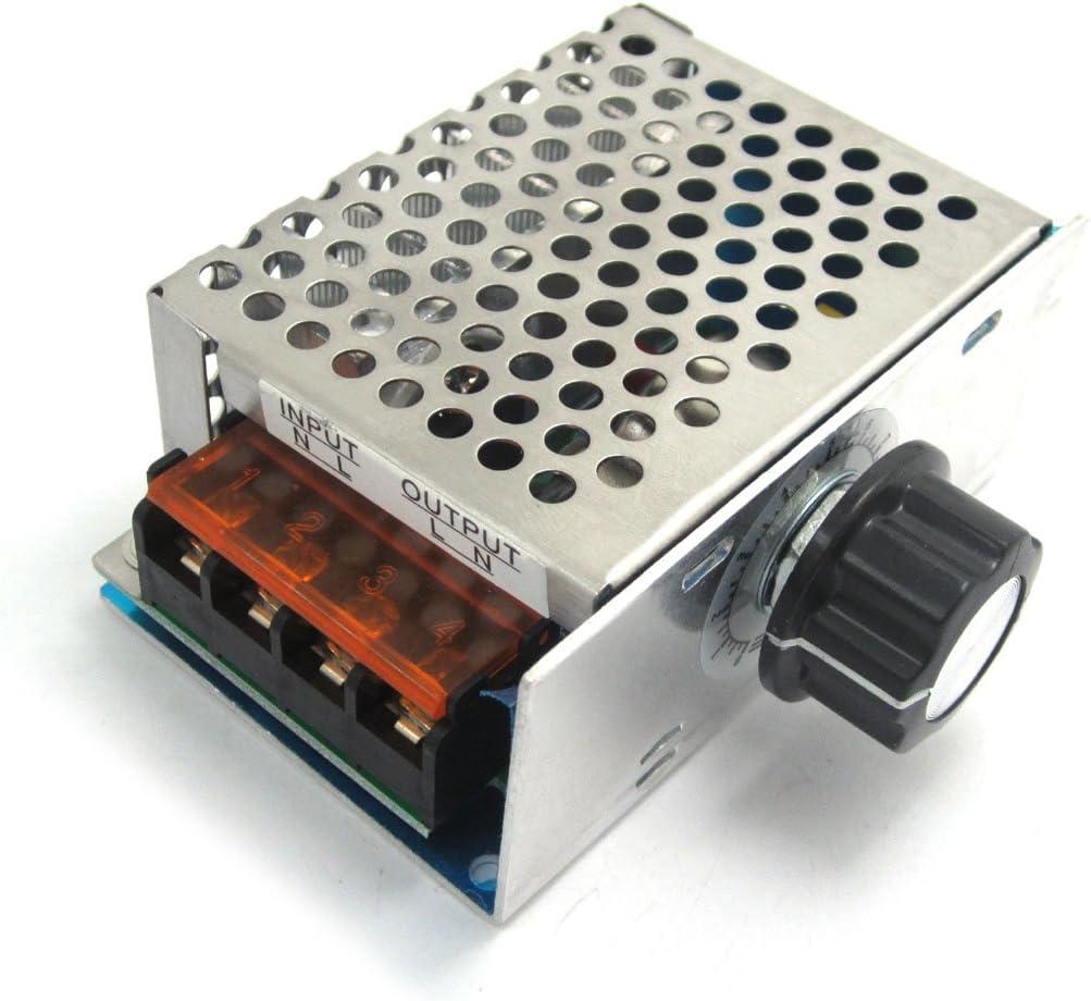 WINGONEER Termostato regulador de la velocidad de atenuación de CA 220V 4000W de alta potencia SCR Regulador de voltaje electrónico gobernador