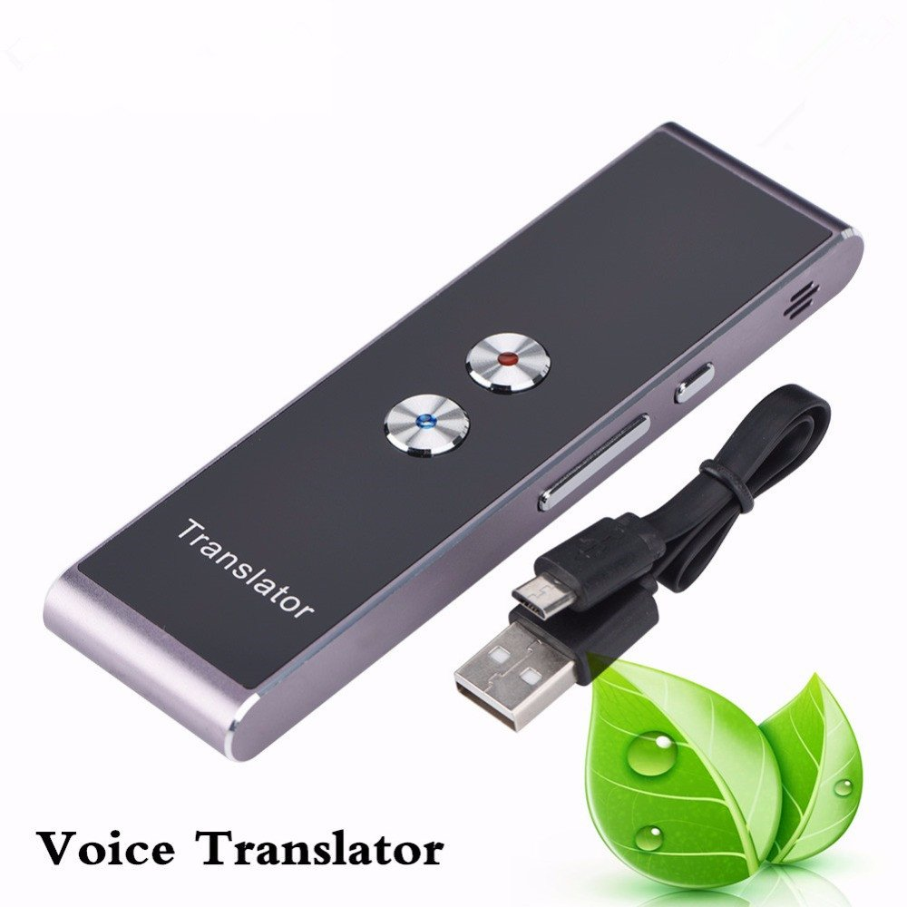 Portable Language Translator Device, Fosa Smart 30-languages Translator Pocket Real-Time Translation,10m Transmission Distance,Compatible with Android and IOS System for Travelling,Business