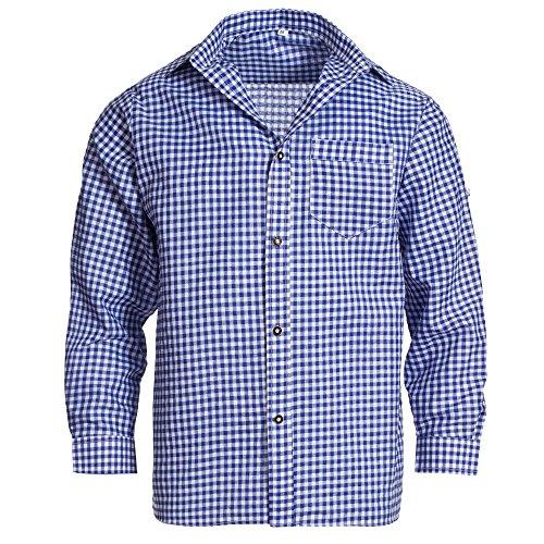 Gaudi-leathers Mens Shirt Blue Checkered Size (Checkered Shirt Costume)
