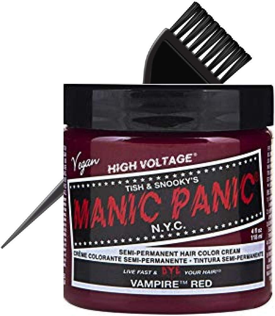 MANIC PANIC CLASSIC Tinte para el cabello semipermanente NYC (con cepillo de tinte elegante) Tish & Snookys Vegan Tinte de pelo de alto voltaje, 118 ...