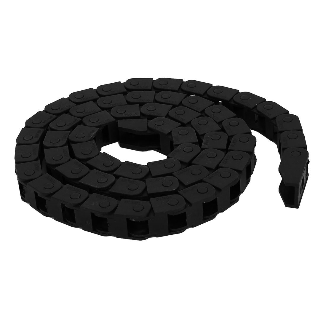 uxcell 10mmx10mm Black Nylon Towline Cable Drag Chain Wire Carrier 1M Length