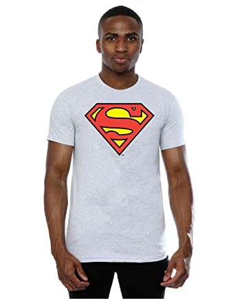 32c925b7 DC Comics Men's Superman Logo T-Shirt XXX-Large Heather Grey