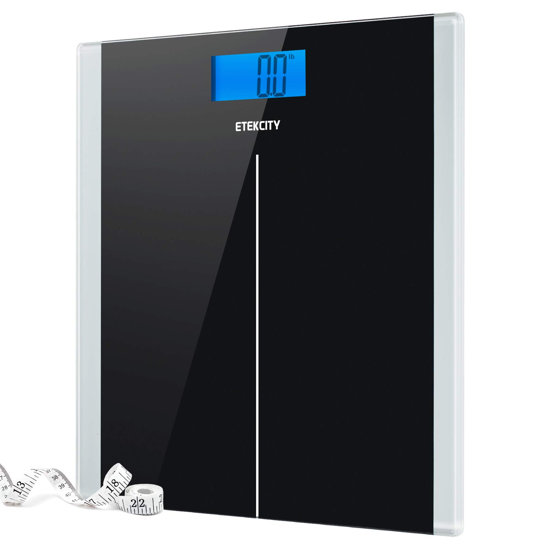 Etekcity Digital Body Weight Bathroom Scale with Step-On Technology, 400 Pounds, Body Tape Measure Included, Elegant Black by Etekcity
