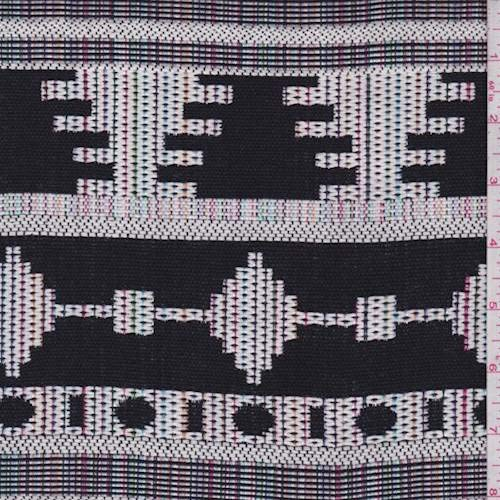Black/White Multi Southwest Tapestry, Fabric by The Yard