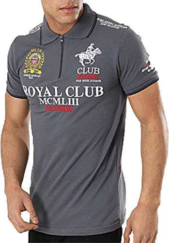 Polo de Manga Corta para Hombre Geographical Norway (m, Dark Grey ...