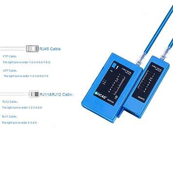 Cable de Ethernet Herramienta Set Kit RJ11/RJ45 Cable Crimpar Crimpadora Para Cat5/CAT6: Amazon.es: Bricolaje y herramientas