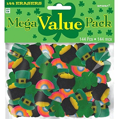 Fun Filled St Patrick's Day Party Mini Rubber Eraser , Multi Color, Rubber , 5 3/4