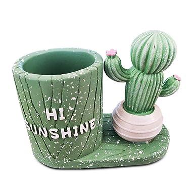 Cute Pencil Holder Case Decorative Cactus Girls Pen Paperclip Cup Storage Stand Desk Organizer