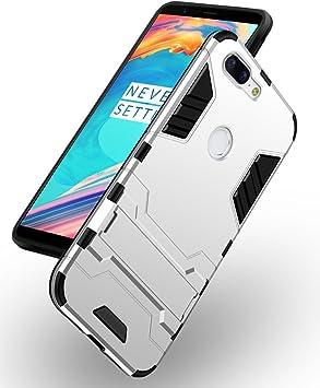 Eabuy OnePlus 5T Funda, Silicona TPU + PC Híbrida Absorción de ...