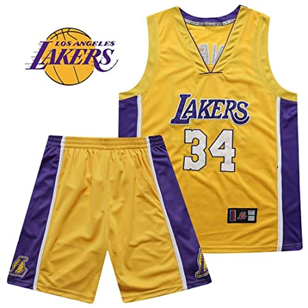 Jersey Los Angeles Lakers Shaquille Oneal 34 Camiseta de ...