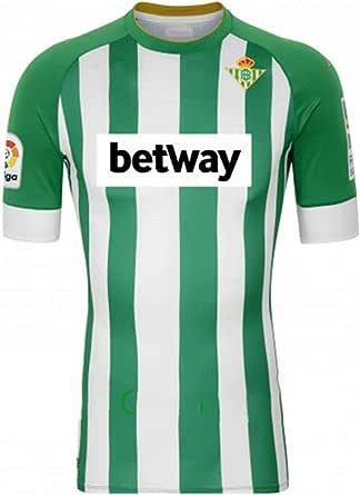 Casa de fútbol 2020-2021 Betis Soccer Traje Camiseta, Green and White Home Court Logo Manga Corta Jersey