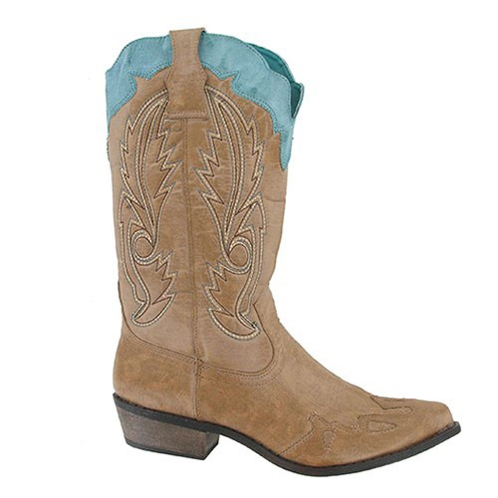 Coconuts by Matisse Women's Cimmaron Boot,Tan/Turquoise,9.5 M US