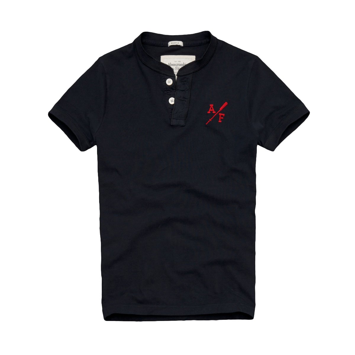 35c149d7 Abercrombie & Fitch Mens Henley T-Shirt (XXL, Navy): Amazon.co.uk: Clothing