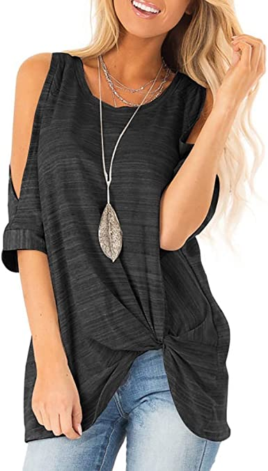 Sanyyanlsy Womens Scoop Neck Button Ruched Slim Tank Tops Ruffled Hem Long Vest Shirt Fashion Short Blouse T-Shirt