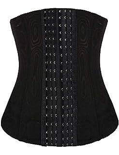 ed2c9a3f4 luxilooks Waist Trainer Women s Tummy Tucker Steel Boned Corset Plus Size  Waist Nipper Shapewear