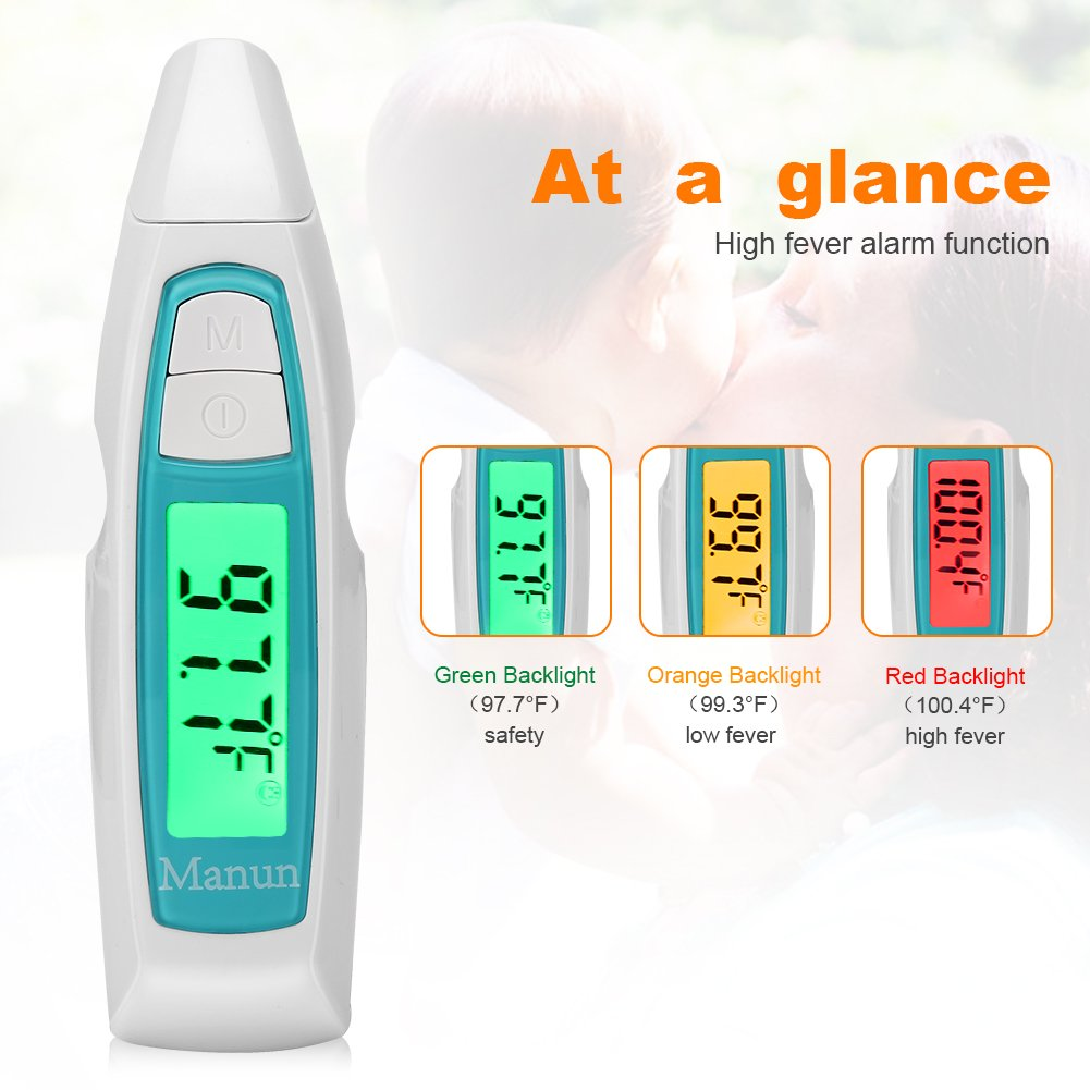 Manun Digital Infrared Forehead Ear Thermometer Electronic